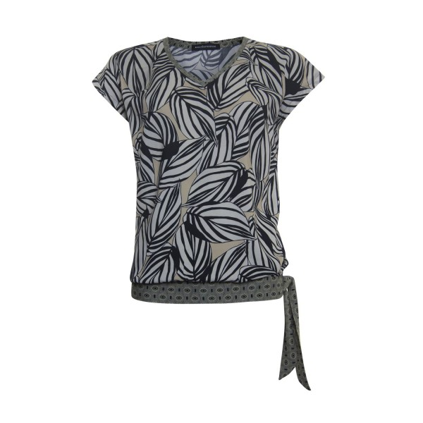 Another Woman Shirt Ecru-Zwart 112182
